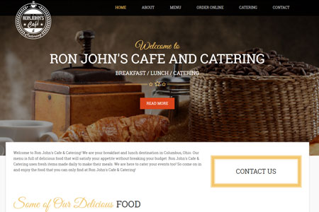 Ron John's Cafe and Catering Website